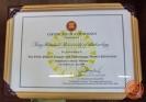 ใบประกาศเกียรติคุณ Certificate of Attendance