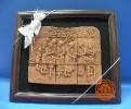 ภาพนูนเนื้อดินเผา แสดงวัฒนธรรมไทย โบราณ