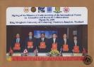 ภาพถ่ายที่ระลึกการลงนามข้อตกลงความร่วมมือทางวิชาการกับมหาวิทยาลัยต่างประเทศ