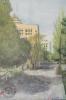 ภาพเขียนสีน้ำ ภาพวิว มจธ. วาดโดย นายพจน์ เมธี โคตรสุโพธิ์