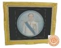 ภาพวาดศิลปะบนจานติดฝาผนัง ภาพ ดร. กฤษณพงศ์ กีรติกร